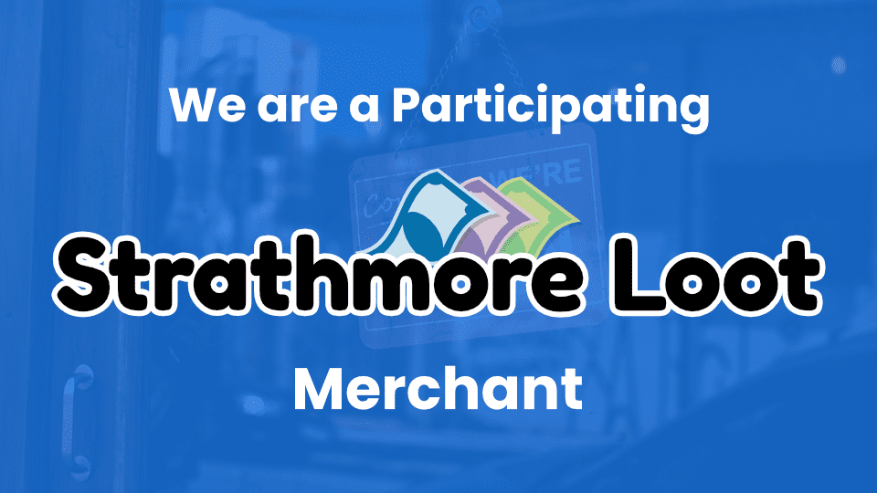 We are a Participating Strathmore Loot Merchant